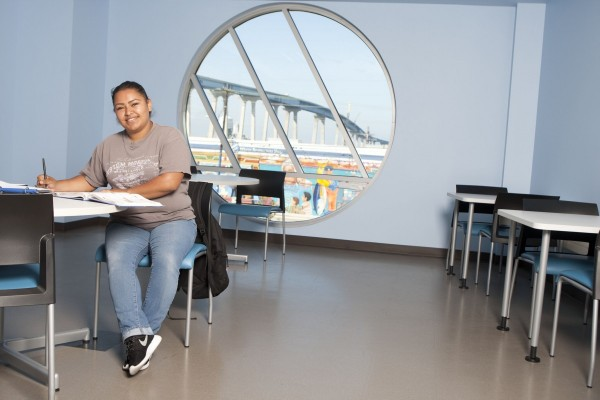SDCE High School Student Studies at Cesar Chavez Campus
