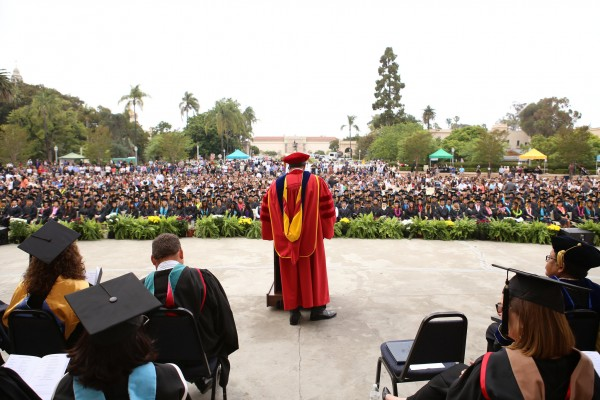 Carlos O. Turner Cortez, Ph.D., President of SDCE addresses SDCE graduates