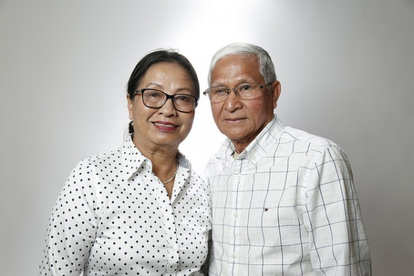 Former SDCE Citizenship Students Sa Chau and his wife, Sovanna Yuon