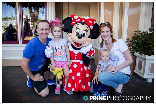 SDCE Student Michael Prine on family trip to Disneyland