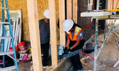 San Diego Gateway to College and Career students are working with contractors in electrical, carpentry and plumbing